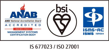 IS 677023 / ISO 27001 認定シンボル